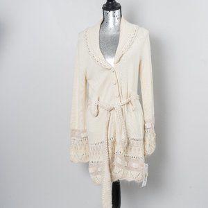 """NWT Nanette Lapore """"Love Fever"""" sweater coat - L"""